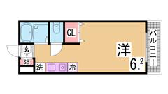 敷金礼金0円 オートロック・エレベーター・IHキッチン 冷蔵庫もおけますよ 803の間取