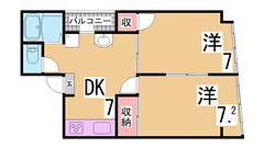 新快速停車神戸駅近く スーパーもスグ システムキッチン エアコン2基付き 802の間取