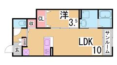大手ハウスメーカー施工の築浅ハイツ^^初期費用も安くおすすめ^^ 102の間取