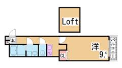 デザイナーズ・オートロック付駅近マンション 海水浴場すぐ  101の間取