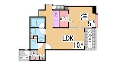 新快速停車神戸駅近く スーパーもスグ システムキッチン ウォークインクローゼット 307の間取