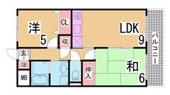 エトワール西神戸 109の間取