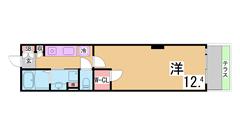 人気の海岸エリアの大型マンション^^オートロック IHコンロ 三点セパレート^^ B102の間取