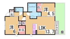 マイクロバブルトルネード・セコムセキュリティー・オール洋室 駐車場2台目可 103の間取