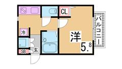人気のセパレート 大型キッチン 室内洗濯置き場 101の間取