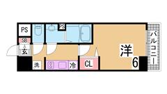 敷金礼金0円、インターネット無料の新築物件 オートロック 宅配ボックス 202の間取