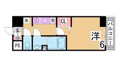 敷金礼金0円、インターネット無料の新築物件 オートロック 宅配ボックス 303の間取