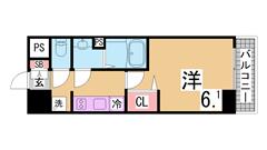 敷金礼金0円、インターネット無料の新築物件 オートロック 宅配ボックス 304の間取