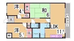 特優賃から一般化されたバリアフリーの駅近マンション^^人気の谷上^^ 405の間取