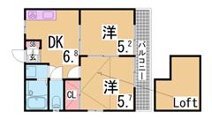 人気の追焚き付機能付きマンション^^二口システムキッチン・浴室乾燥^^ 101の間取
