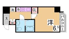 ガスキッチン・TVモニターホン・脱衣所付きの3点セパレート トランクルーム付^^ 604の間取