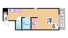 沿線3WAY利用可能の駅近マンション オートロック セパレート 敷金礼金0も可 601の間取
