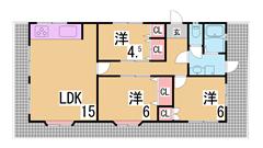 神戸女子大生におすすめ^^オートロック・オール電化・IH2口コンロ付築浅^^ 102の間取