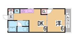 駅からすぐのオートロック・カウンターキッチン・防犯カメラ付マンション^^ 703の間取