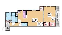 新築 駅近 オートロック バス・トイレ別 浴室乾燥 TVモニターホン 101の間取