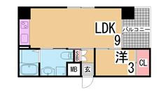 オートロック・宅配BOX・防犯カメラ2台付^^インターネット無料の築浅マンション 203Cの間取