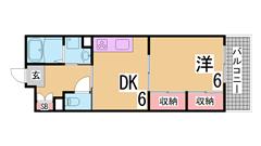 礼金なし 仲介手数料無料 全室南向き  エレベーター 三点セパ 追焚き 大型収納 1206の間取
