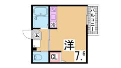 A-EAST須磨海浜公園 102の間取