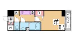敷金礼金0円、インターネット無料の新築物件 オートロック 宅配ボックス 301の間取