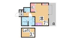 インターネット無料^^システムキッチン 浴室乾燥 オートロック TVモニター^^ 1307の間取