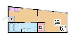 人気のリノベーション住宅 システムキッチン 三点セパレート 室内物干し有り 302の間取