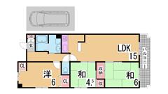 人気のリノベーション住宅 システムキッチン 三点セパレート 広々バルコニー 501の間取