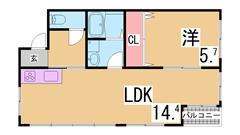室内リノベーション イオンモール神戸南まで徒歩圏内 追い焚き システムキッチン 401の間取