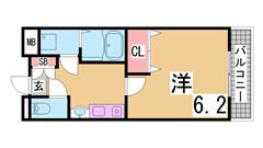 海・公園・駅・マリンピア神戸までスグ^^人気のファミリー物件^^^ 503の間取