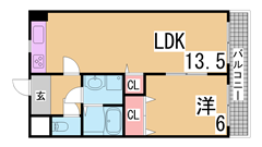 広々リビング JR須磨海浜公園駅まで平坦で徒歩すぐ 洋室に変更 502の間取