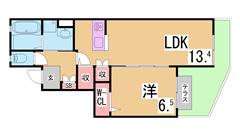 H29年完成予定のイオンモール神戸南までスグ^^インターネット無料^^ 503の間取