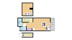 敷金礼金0円 駅・スーパー・コンビニ近く 設備も充実 203の間取