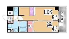 オートロック・エレベーター・屋内駐車場^^目の前に広がるオーシャンビュー^^ 202の間取