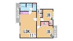 室内リノベーション^^システムキッチン・広々リビング^^敷地内駐車場^^ 105の間取