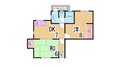 閑静な住宅街の人気のリノベーション住宅^^魅力のお家賃です^^ 201の間取
