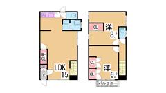 学生さんに人気の広々1K^^ペットOK^^神戸学院性に人気^^ 205の間取