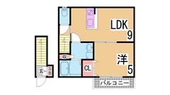 オートロック システムキッチン エアコン ウォシュレット 浴室乾燥 照明付き 205の間取