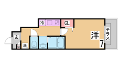 敷金・礼金・インターネット料金0円^^駅1分の人気の築浅マンション^^ 1008の間取