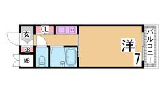 閑静な住宅街の北野エリアの人気物件^^セパレート 大型収納^^ 106の間取