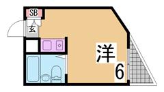 ペットOK 新快速停車神戸駅近く 魅力のお家賃 家電付き 201の間取