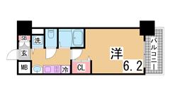 人気の分譲賃貸^^システムキッチンガス2口・オートロック・宅配BOX付き^^ 1103Dの間取