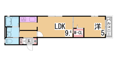 シャーメゾン鈴蘭台駅前 201の間取