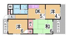 兵庫駅前ガーデンハイツ 303の間取