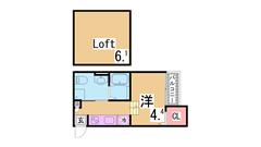IH二口システムキッチン・三点セパレート・大型収納^^日当たり良好^^ 103の間取