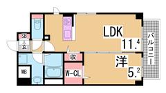 人気の新長田^^システムキッチン(ガス3口)・オートロック・浴室乾燥等設充実 201の間取