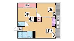 室内フルリノベーション^^三点セパレート システムキッチン 洋室広々^^ 27の間取