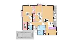 ペットOK・駐車場代1台込・システムキッチン・追焚・ウォークインクローゼット E201の間取