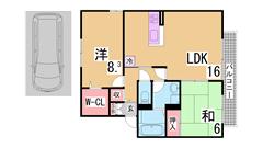 人気のファミリー物件 駐車場1台込 広々収納と人気のカウンターキッチン A201の間取