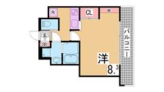 H19年11月室内外全面改装済み 保証人不要 生活保護可 303の間取