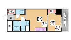 H21年リノベーション物件^^広々洋室^^浴室乾燥・シャンプードレッサー付^^ 201の間取