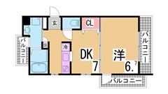 人気の築浅分譲仕様マンション 駐輪場無料 システムキッチン オートロック 401の間取